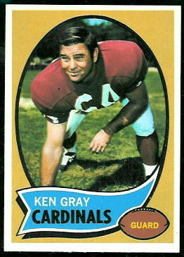 Ken Gray 1970 Topps football card