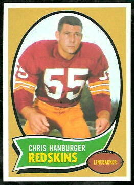 Chris Hanburger 1970 Topps football card