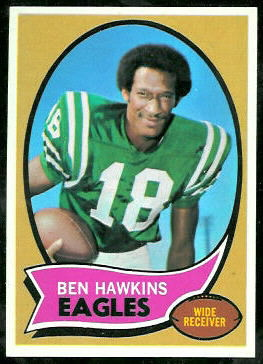 Ben Hawkins 1970 Topps football card