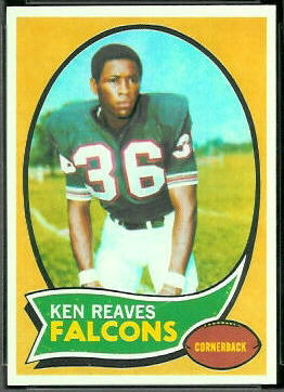 Ken Reaves 1970 Topps football card