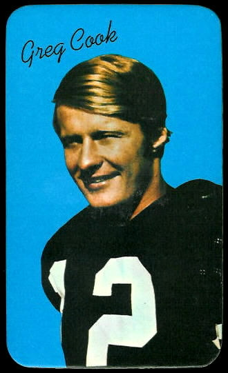 Greg Cook 1970 Topps Super football card