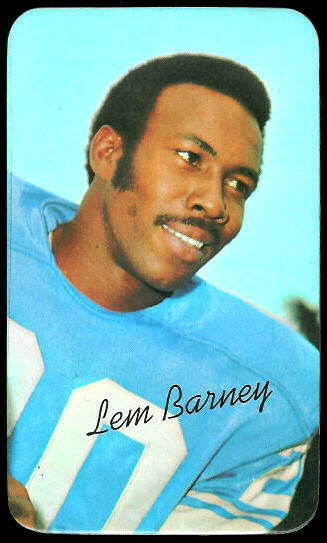 Lem Barney 1970 Topps Super football card