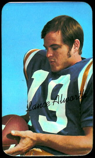Lance Alworth 1970 Topps Super football card