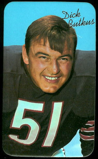 Dick Butkus 1970 Topps Super football card