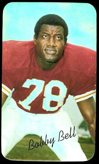 Bobby Bell 1970 Topps Super football card