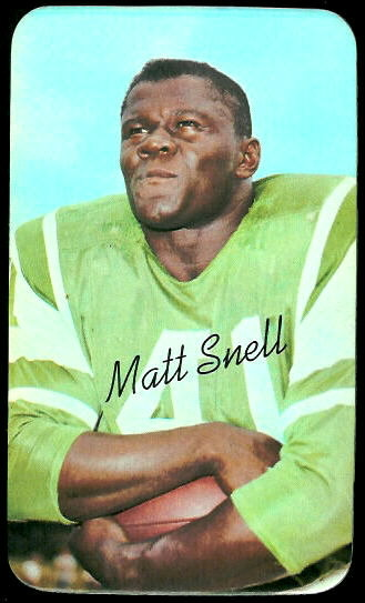 Matt Snell 1970 Topps Super football card
