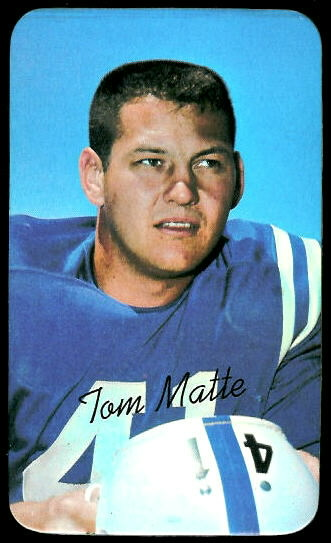 Tom Matte 1970 Topps Super football card