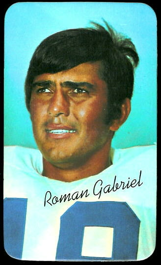 Roman Gabriel 1970 Topps Super football card