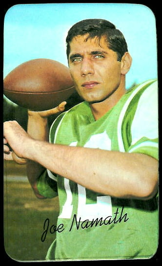 Joe Namath 1970 Topps Super football card