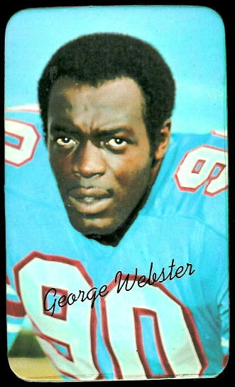 George Webster 1970 Topps Super football card