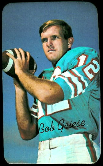 Bob Griese 1970 Topps Super football card