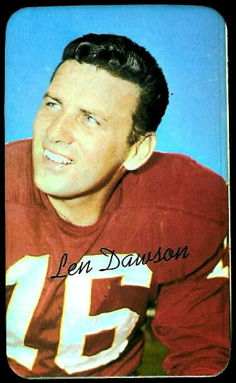 Len Dawson 1970 Topps Super football card