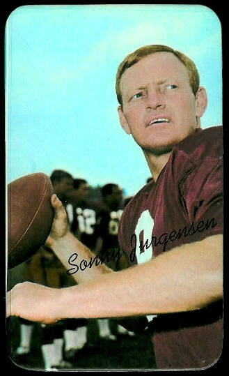 Sonny Jurgensen 1970 Topps Super football card