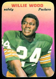 Willie Wood 1970 Topps Super Glossy football card