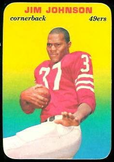 Jim Johnson 1970 Topps Super Glossy football card