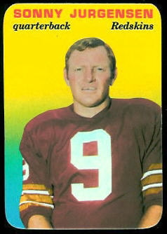 Sonny Jurgensen 1970 Topps Super Glossy football card