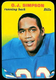 O.J. Simpson 1970 Topps Super Glossy football card
