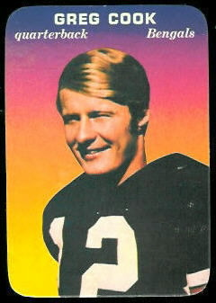 Greg Cook 1970 Topps Super Glossy football card