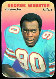 George Webster 1970 Topps Super Glossy football card