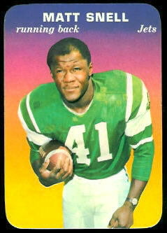 Matt Snell 1970 Topps Super Glossy football card