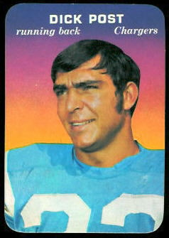 Dick Post 1970 Topps Super Glossy football card