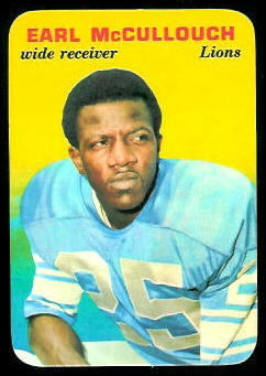 Earl McCullouch 1970 Topps Super Glossy football card
