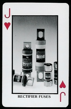 Rectifier Fuses 1970s Littelfuse Playing Cards football card