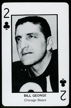 Bill George 1970s Littelfuse Playing Cards football card
