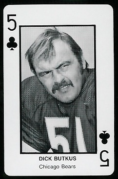 Dick Butkus 1970s Littelfuse Playing Cards football card
