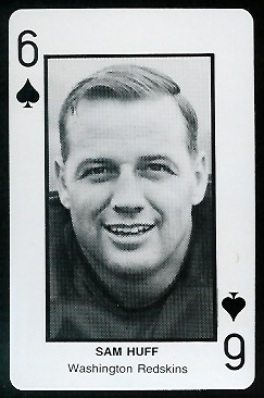 Sam Huff 1970s Littelfuse Playing Cards football card