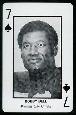 Bobby Bell 1970s Littelfuse Playing Cards football card