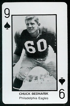 Chuck Bednarik 1970s Littelfuse Playing Cards football card