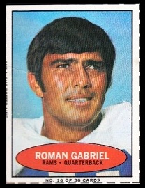 Roman Gabriel 1971 Bazooka football card
