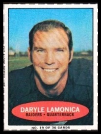 Daryle Lamonica 1971 Bazooka football card