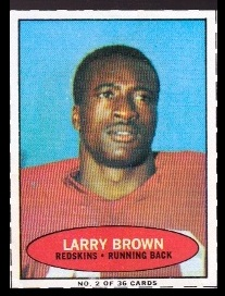Larry Brown 1971 Bazooka football card