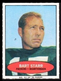 Bart Starr 1971 Bazooka football card