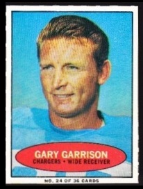 Gary Garrison 1971 Bazooka football card