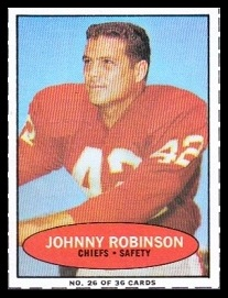 Johnny Robinson 1971 Bazooka football card