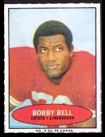 Bobby Bell 1971 Bazooka football card