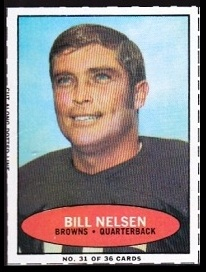 Bill Nelsen 1971 Bazooka football card