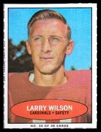 Larry Wilson 1971 Bazooka football card
