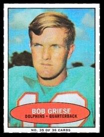 Bob Griese 1971 Bazooka football card