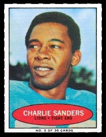 Charlie Sanders 1971 Bazooka football card