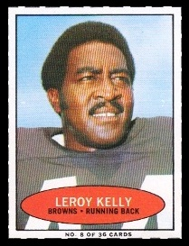 Leroy Kelly 1971 Bazooka football card