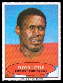 Floyd Little 1971 Bazooka football card