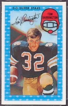 Auctions In Ohio >> Tom Barrington - 1971 Kelloggs #1 - Vintage Football Card Gallery