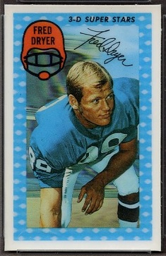 Fred Dryer 1971 Kelloggs football card