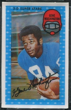 Gene Washington 1971 Kelloggs football card