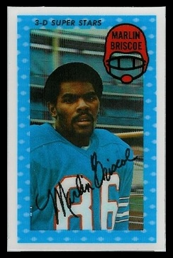 Marlin Briscoe 1971 Kelloggs football card