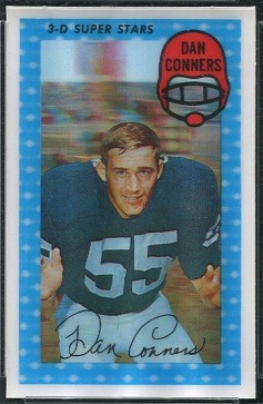 Dan Conners 1971 Kelloggs football card